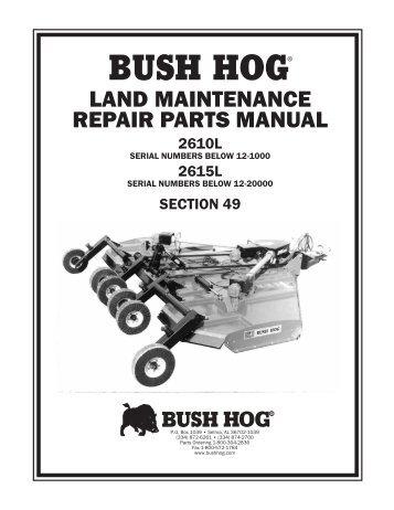 Bush hog sq600 Owners Manual