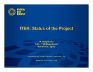ITER: Status of the Project - Fusion For Energy