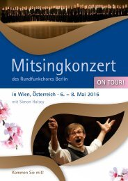 Mitsingkonzert 2016 - Flyer