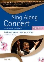 Sing Along Concert 2016 - Flyer
