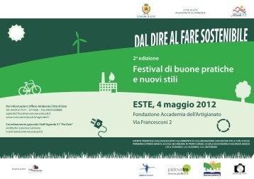 Volantino Festival - Comune di Este