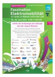 Elektromobilität zum Anfassen am City Airport Bremen! 15.