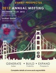 2012 annual mEEting - the ASCB