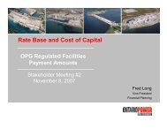 Rate Base and Cost of Capital