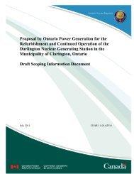 Draft Scoping Information Document - Ontario Power Generation