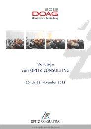 Vorträge von OPITZ CONSULTING bei der DOAG Konferenz 2012