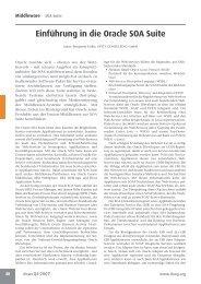 Einführung in die Oracle SOA Suite - Opitz Consulting