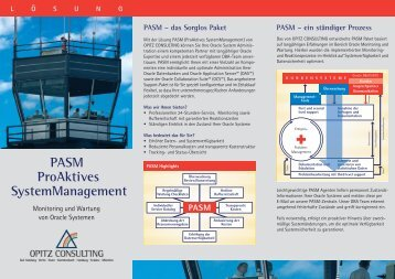 PASM ProAktives SystemManagement - Opitz Consulting