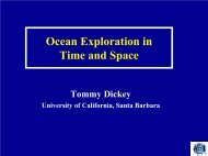 Ocean Exploration in Time and Space - University of California ...
