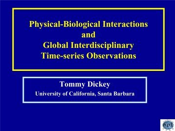Physical-Biological Interactions and Global Interdisciplinary Time ...