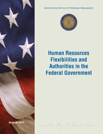 Human Resources Flexibilities and Authorities in the Federal ...