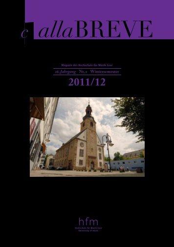 alla breve - Wintersemester 2011-12