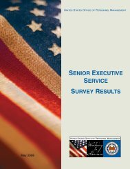 2008 Senior Executive Service Survey Results - Office of Personnel ...
