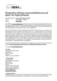 Kooperation zwischen www.produkte24.com und ... - fair-NEWS.de