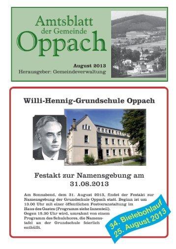 August - Oppach