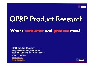 the variant method - OP&P Product Research