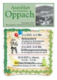 November 2007 Herausgeber: Gemeindeverwaltung - Oppach