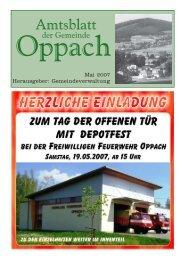 Mai 2007 Herausgeber: Gemeindeverwaltung - Oppach