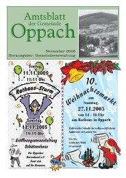 November 2005 Herausgeber: Gemeindeverwaltung - Oppach