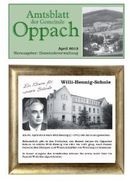 April - Oppach