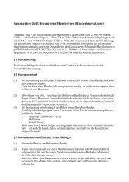 SATZUNG HUNDESTEUER - Oppach