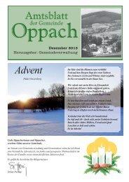 Amtsblatt - Oppach