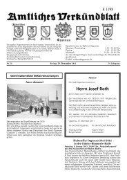 Herrn Josef Roth - Stadt Oppenau