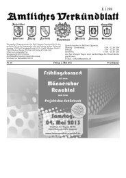 Verkündblatt KW 18 - 03. Mai 2013 - Stadt Oppenau