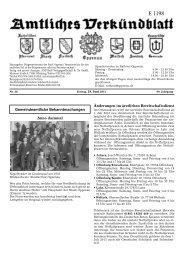 Verkündblatt KW 26 - 28. Juni 2013 - Stadt Oppenau