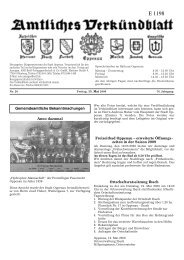 Verkündblatt KW 20 - 15. Mai 2009 - Stadt Oppenau
