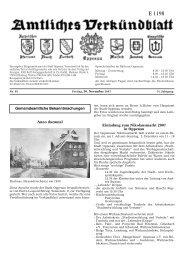 Verkündblatt KW 48 - 30 November 2007 - Stadt Oppenau