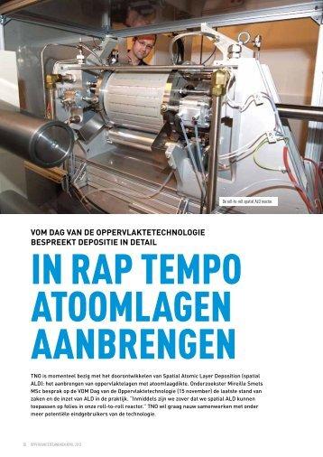 In rap tempo atoomlagen aanbrengen