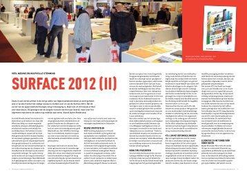 Surface 2012 - Vakblad Oppervlaktetechnieken