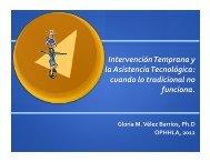 Intervención Temprana y la Asistencia Tecnológica - OPPHLA