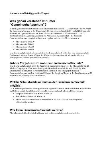 """Gemeinschaftsschule""?"