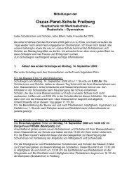 3/2009 Mitteilungen der Schulleitung (PDF) - Oscar-Paret-Schule ...