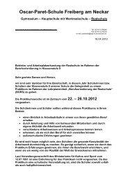Anschreiben für die Betriebe - Oscar-Paret-Schule Freiberg aN