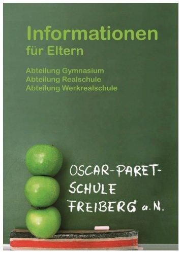 Informationen für Eltern - Oscar-Paret-Schule Freiberg aN