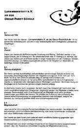 Satzung des Vereins zum download (*.PDF) - Oscar-Paret-Schule ...