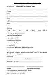 Spendenformular - Oscar-Paret-Schule Freiberg aN
