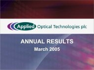 Annual Results 2004/2005 - OpSec Security