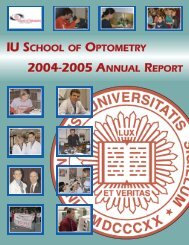 annual report 20042005.qxd - Indiana University School of Optometry