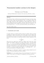 Noncanonical number systems in the integers - Institute of ...