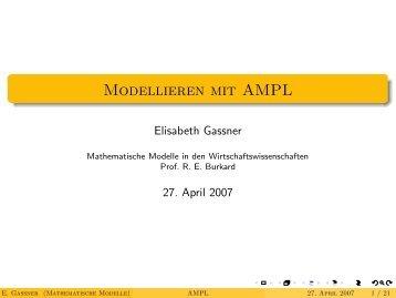 Modellieren mit AMPL