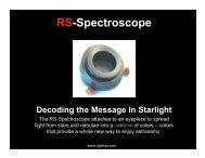 RS-Spectroscope v2.0 - Oceanside Photo and Telescope