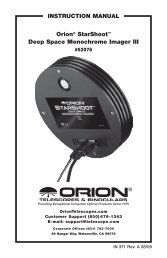InStruCtIOn Manual Orion StarShoot Pro V2 0 Deep Space Color