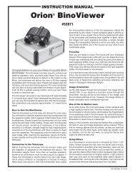 InStruCtIOn Manual Orion StarShoot Pro V2 0 Deep Space Color