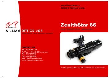 ZenithStar 66 Manual - Oceanside Photo and Telescope