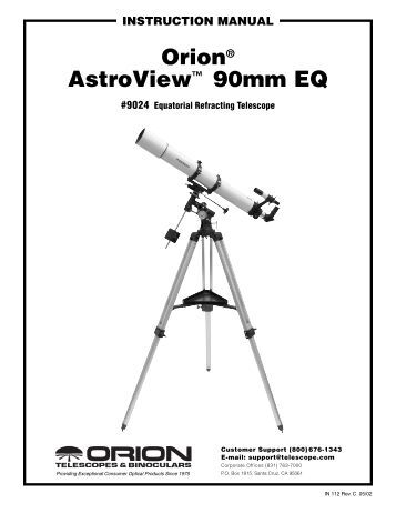 Orion EQ-3M Single-Axis Telescope Drive Manual