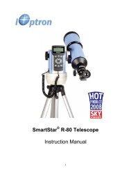 SmartStar R-80 Telescope Instruction Manual - iOptron